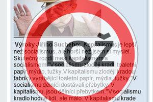 Jiří Suchý vyslovil iba prvú vetu z textu. Zvyšok je hoax