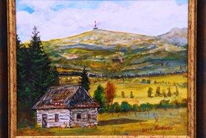 Stodolu vyhľadávajú aj maliari. Autorom tejto maľby je Jozef Kreutz.