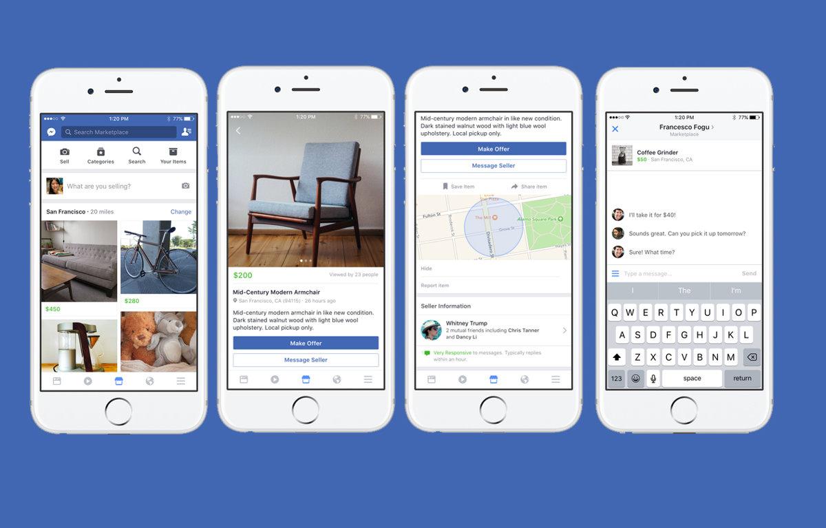 Facebook spúšťa v Európe Marketplace. Čechy sú tam 391acf809be