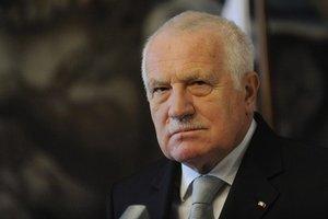 Prezident Českej republiky Václav Klaus.