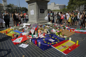 Barcelona po teroristických útokoch z minulého štvrtka.