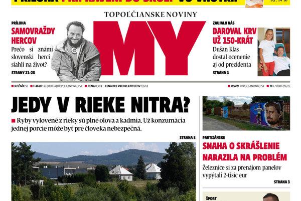 6125632c9 MY Topoľčianske noviny Dnešok už v predaji. - SME | MY Topoľčany
