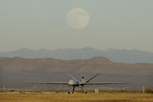 Na snímke bojový dron.