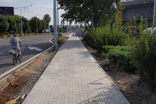 Nový chodník zvýši komfort pre obyvateľov mesta aj jeho návštevníkov.