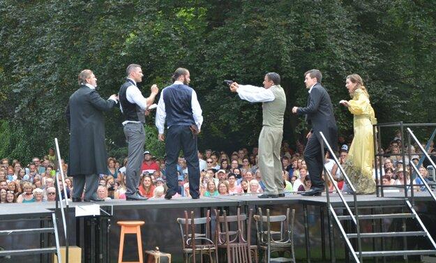 V predstavení bolo viacero dramatických scén.