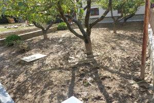 Množstvo blata vo dvoroch a pri domoch.
