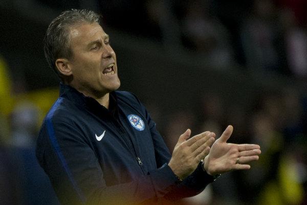 Tréner slovenskej reprezentácie do 21 rokov Pavel Hapal.