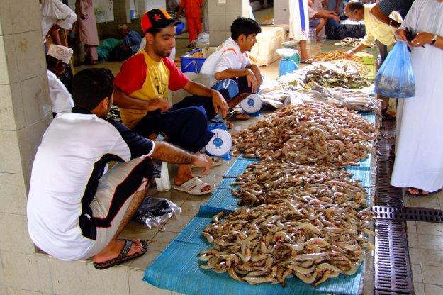 Muskat - rybí trh.