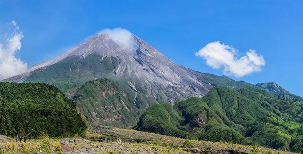 Aktívna sopka Merapi.
