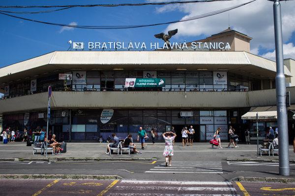 Hlavná železničná stanica v Bratislave.