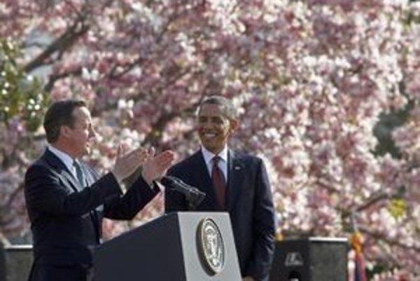 Barack Obama a David Cameron.