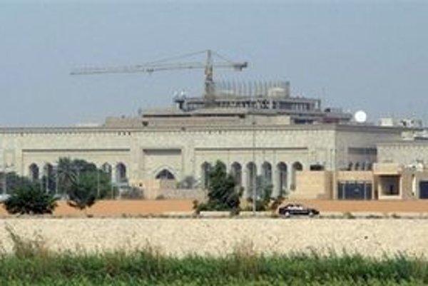 Budova veľvyslanectva USA v Bagdade.
