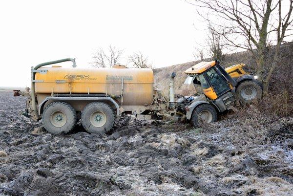 Ukradnutý traktor.