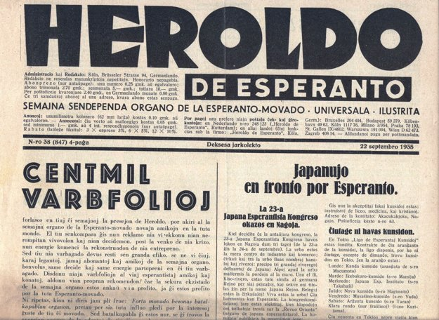 V 30. rokoch 20. storočia boli v ponuke Knihovne mesta Košíc aj esperantské noviny.