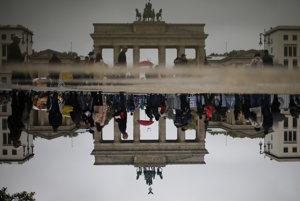 Brandenburská brána v Berlíne.