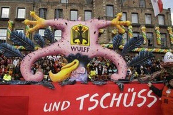 Alegorický voz symbolizujúci odstúpenie nemeckého prezidenta.