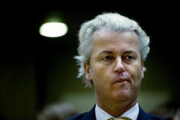 Pravicový poslanec Geert Wilders.