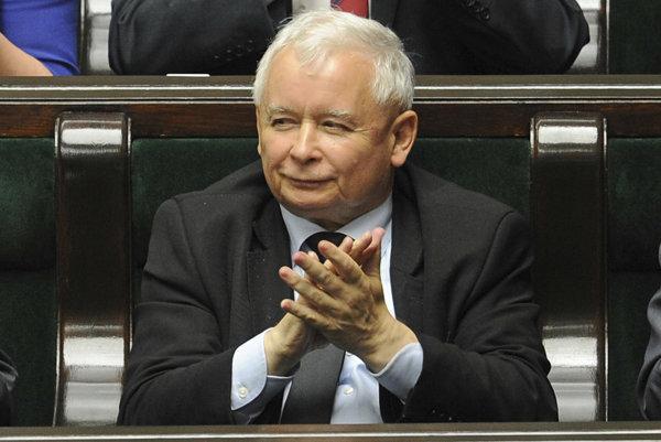 Predseda strany Právo a spravodlivosť Jaroslaw Kaczynski.