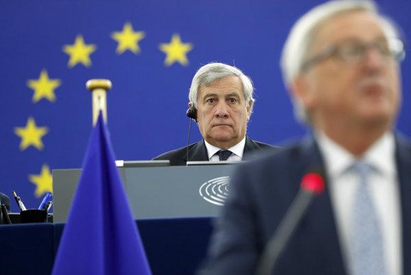 Predseda europarlamentu Antonio Tajani.