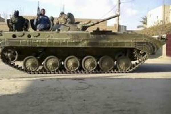 Obrnenec v sýrskom meste Deir al-Zour.