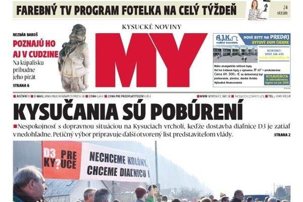 MY Kysucké noviny čakajú na vás už zajtra.