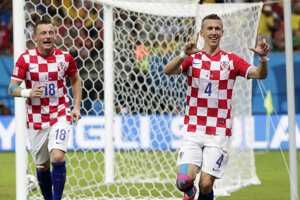 Ivica Olič (vľavo) je známou tvárou chorvátskej reprezentácie.