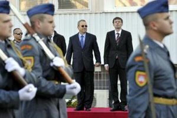 Ehud Barak na októbrovej návšteve Slovenska.