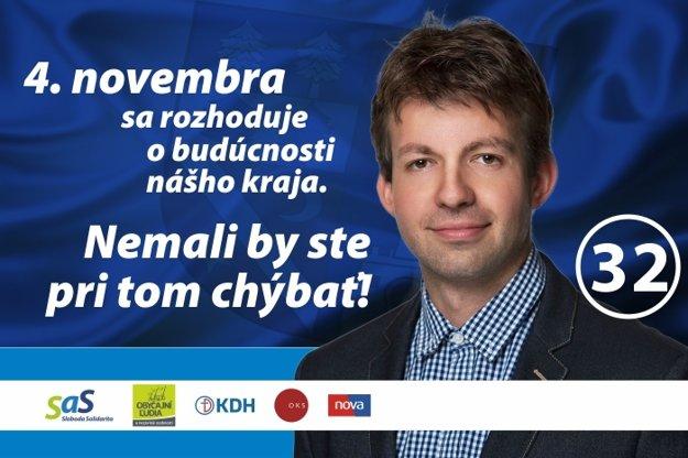 Kandidát Slavomír Pôbiš.