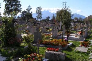 Cintorín v Spišskej Belej.