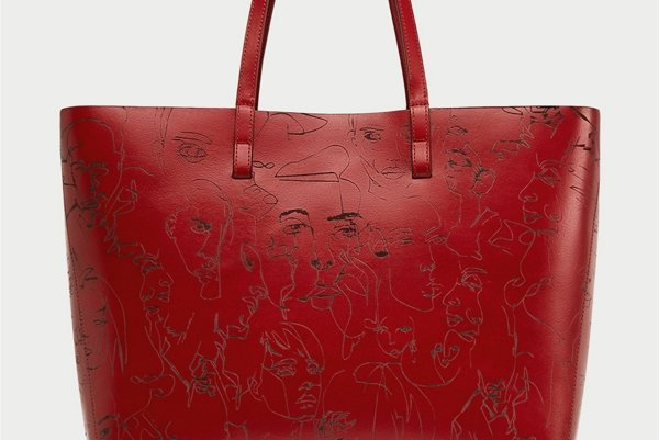 Kabelka značky Zara s ilustráciou od Borisa Schmitza.