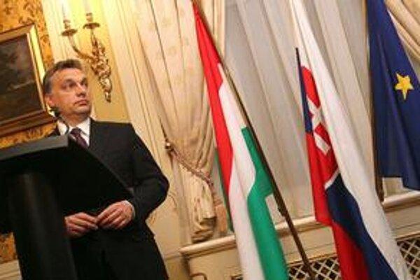 Orbán počas návštevy na Slovensku.
