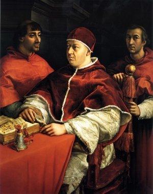 Pápež Lev X. s kardinálmi.