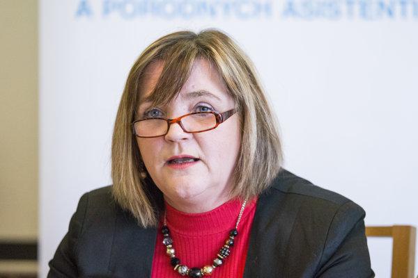 Prezidentka Slovenskej komory sestier a pôrodných asistentiek (SK SaPA) Iveta Lazorová.