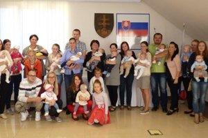 Uvítanie najmenších obyvateľov obce Skalité.