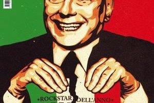 Rocker roka Silvio Berlusconi.