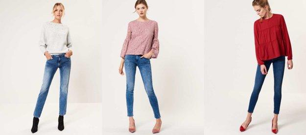 Straight džínsy, slim fit džínsy, skinny džínsy
