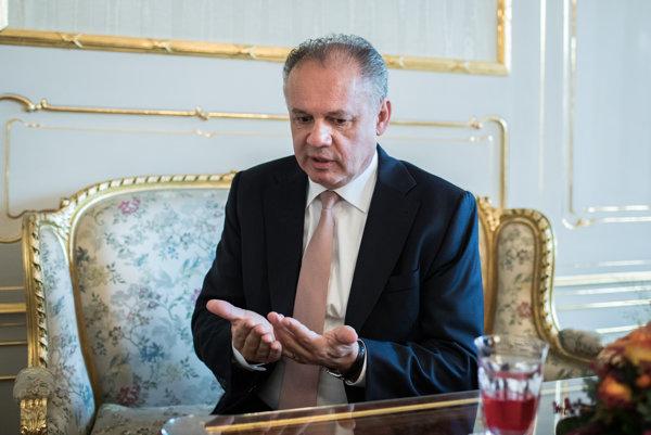 Prezident Slovenskej republiky Andrej Kiska.