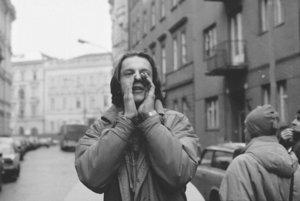 Na snímke člen koordinačného výboru študentov Radoslav Števčík.
