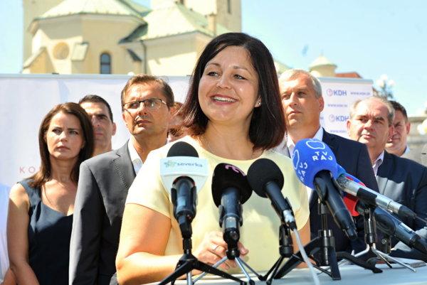 Erika Jurinová (OĽaNO), predsedníčka Žilinského samosprávneho kraja.