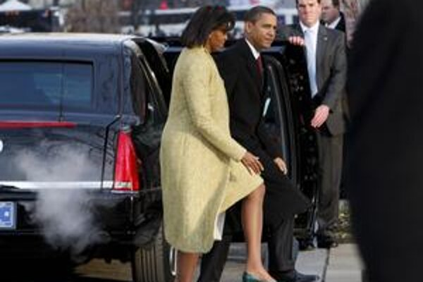 Barack Obama prichádza so ženou Michelle na omšu do kostola St. John's vo Washingtone, 20. januára 2009.