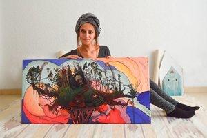 Katarína Prídavková je jedna z umelkýň, ktorá sa dnes predstaví na akcii v Čadci