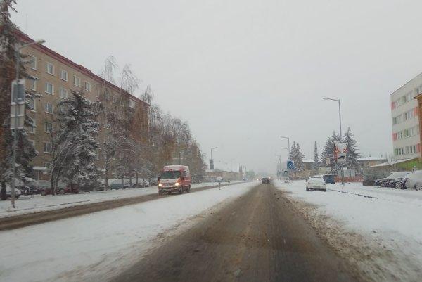 Ulica 1. mája v Liptovskom Mikuláš.