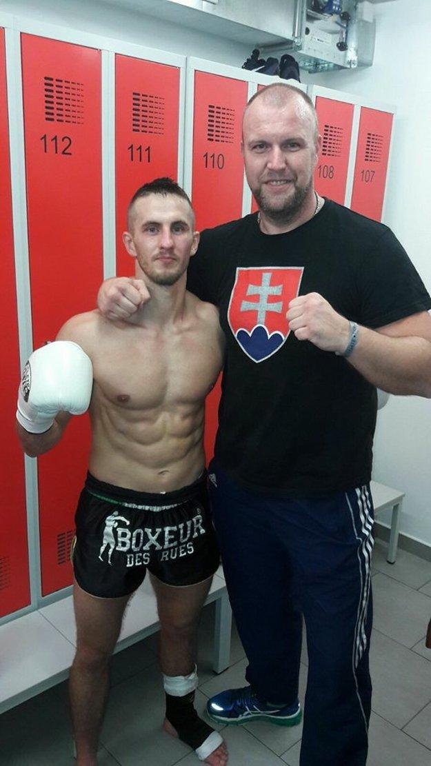 Pišta Mészáros s trénerom Patrikom Matejkom.