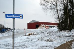 Skládka odpadov Øras v Nórsku.