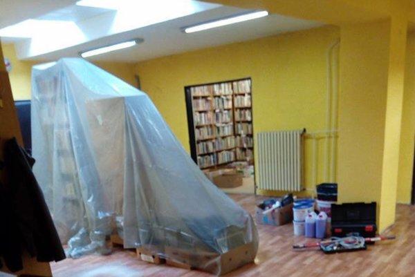 Rekonštrukcia v knižnici na Sekčove.