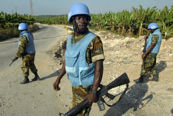 Členovia mierových jednotiek OSN. Ilustračné foto
