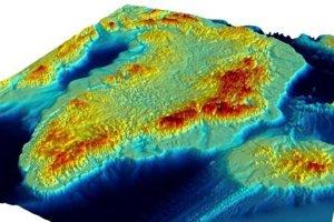 Mapa grónskeho podložia je v mierke 1:3500000 a vznikla z dát tridsiatich ústavov.