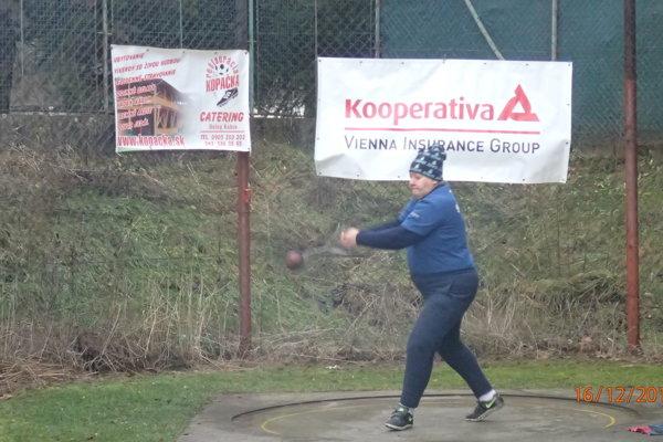 Danica Sokolíková v akcii