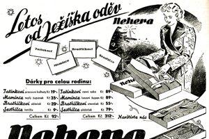 Vianočná reklama Nehera z roku 1937.