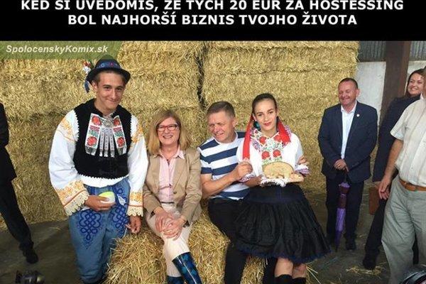 Premiér na žatve v Drahovciach